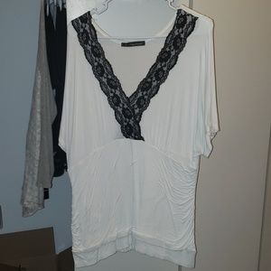 Maurices lace edge shirt